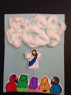 Lesson 21: preschool. Jesus' ascension into the clouds. Moveable Jesus who disappears into the clouds