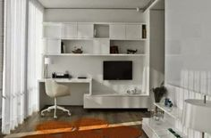 desk in living room with filing - Google Search