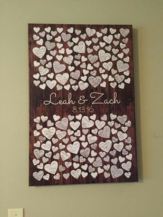 Such a sweet idea for a guest book! Made by: Peachwik #guestbooks