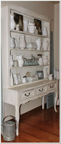 Chalk Paint® decorative paint by Annie Sloan Project - Dining Hutch Dining Hutch, Thrift Store Furniture, Annie Sloan, Furniture Makeover, Chalk Paint, Home Furnishings, Painted Furniture, White Pitchers, Sweet Home