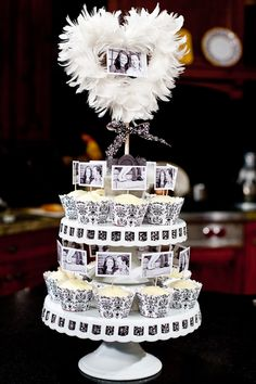 Cute idea, use as a centerpiece for a dessert table!