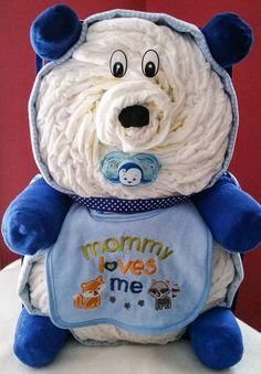 Teddy Bear Diaper cake Creative Baby Cakes by Kelly
