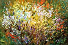 Abstract Art Painting Palette Knife Handmade by TatianasART