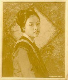 Titi, dochter van de regent van Bandung, Indonesië (1900)