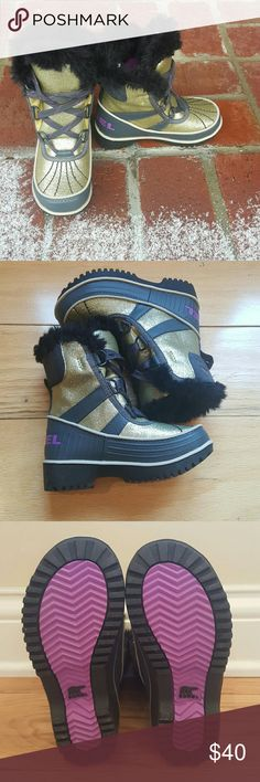 NWOB Sorel Waterproof Snow Boots Brand New Without Box! Bought and never got to use! From A Smoke and Pet Free Home  Fur and fleece on the inside to keep your little one warm! Sorel Shoes