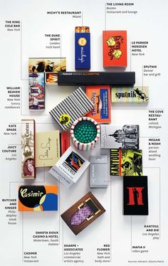 Matchbooks have so many shape, brand and design possibilities.... #infographics
