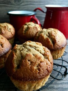Magdalenas de café   Mi mejor hornada Coffee Muffins, Flour Bakery, Spanish Desserts, Kitchen Aid Recipes, Pan Dulce, Yummy Cupcakes, Sweet Cakes, Sweet And Salty, Cakes And More