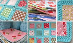 Tecido e crochet