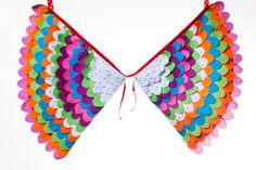 Fancy Dress Costume Bird Wings, Fairy Wings, Super Hero Wings, Toddler Pretend Play Accessory - The Lola Wings. £28.00, via Etsy.