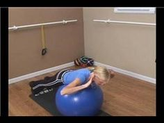 Feel the Burn: Mailbag! Posture! Desk Jobs! Stability Ball Core Exercises : Stability Ball Back Extension Exercise