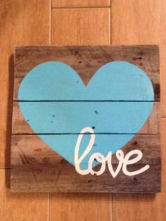 Pallet sign love by Ranmasplace on Etsy