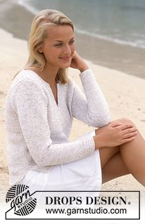 Naxos - DROPS Pullover in Safran and Cotton Viscose - Free pattern by DROPS Design