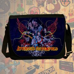 NEW HOT!!! Avenged Sevenfold Messenger Bag, Laptop Bag, School Bag, Sling Bag for Gifts & Fans #02