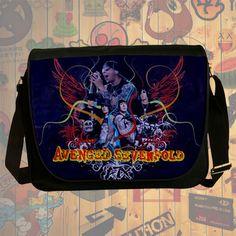 NEW HOT!!! Avenged Sevenfold Messenger Bag, Laptop Bag, School Bag, Sling Bag for Gifts & Fans #02