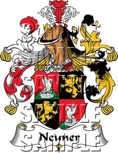 Neuner Family Crest apparel, Neuner Coat of Arms gifts