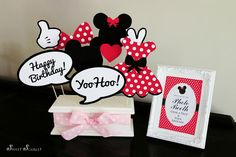 Cricut Photo Booth Props | MINNIE Mouse Photo Booth Props in Red by SweetScarletDesigns, $5.00