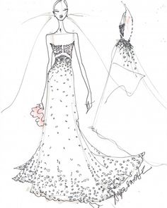 Bridal Fashion Week is officially here, and with it comes the latest wedding dress collections from your favorite bridal designers, including Marchesa, Oscar de la Renta, Monique Lhuillier, and more. But before they hit the runways, here's a sneak peek at the dreamy details—whether a sketch or a swatch of fabric—as well as the inspiration behind the designs. And stay tuned for even more Bridal Fashion Week coverage, with inside access to the shows, exclusive interviews, and mo...