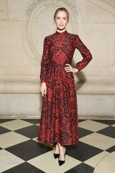 Emily Blunt In Christian Dior Pre-Fall 2018 : Front Row @ Christian Dior Spring 2018 Couture