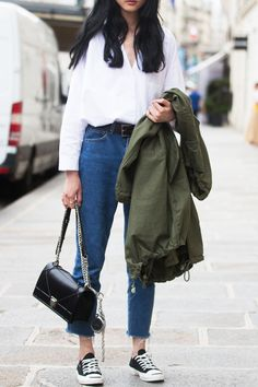 20 Outfits That Prove You Can Wear Converse with Anything - The Capsule Wardrobe from InStyle.com