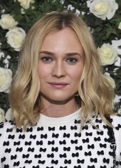 As always, Diane Kruger epitomized easy chic with soft, loose waves and a neutral makeup palette at the W magazine's Golden Globes luncheon.