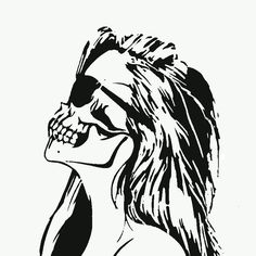 "Post with 0 votes and 521 views. [O] ""Skeleton Broad"" - Skeleton, Zombie, Girl, Skull Skull Stencil, Stencil Art, Stencils, Joker Stencil, Graffiti Art, Girl Skull, Skeleton Tattoos, Halloween Silhouettes, Zombie Girl"