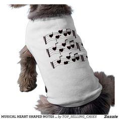 MUSICAL HEART SHAPED NOTES SINGING PET SHIRT