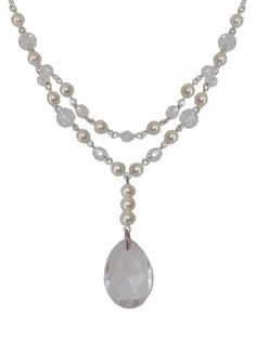 Bridal Teardrop Swarovski Necklace
