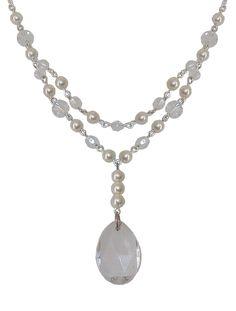 Bridal Teardrop Swarovski Necklace