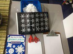 Snowflake making station Inquiring Minds: Mrs. Myers' Kindergarten: Investigating Snow