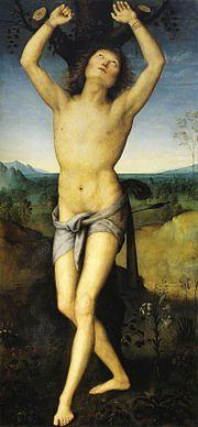Perugino - San Sebastiano è un dipinto a olio su tavola (174x88 cm) di Pietro Perugino, databile al 1490 circa e conservato nel Nationalmuseum di Stoccolma.