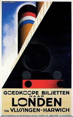 London Harwich Ocean Liner Ship Travel Poster Advertisement Print A4 | eBay