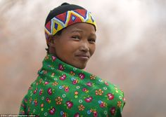 Tougher than Bear Grylls! Most members of the San tribe, this woman among them, live on the fringes of the inhospitable Kalahari Desert