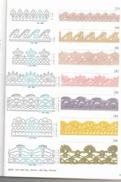 Crochet edgings & graphs
