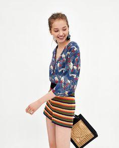 Image 2 of TUCAN PRINT SHIRT from Zara