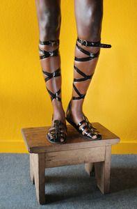 Loza Maléombho Maracana sandal handmade in the Ivory Coast - curated by African Fashion Designers, Ivory Coast, I Dress, Gladiator Sandals, Fashion Brands, Fashion Shoes, Stockings, Style Inspiration, My Style