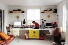Långt skrivbord