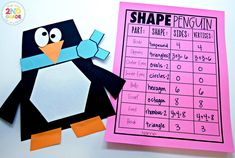 Use these student built Penguins to practice shape math!