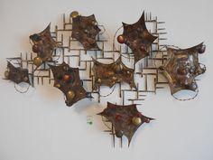 Vintage Brutalist Metal Wall Sculpture Bertoia Jere Era Mid Century Modern in Art, Art from Dealers & Resellers, Sculpture & Carvings | eBay
