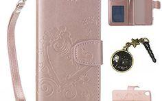 PU Cuir Coque Strass Case Etui Coque étui de portefeuille protection Coque Case Cas Cuir Swag Pour Sony Xperia XA +Bouchons de poussière:…