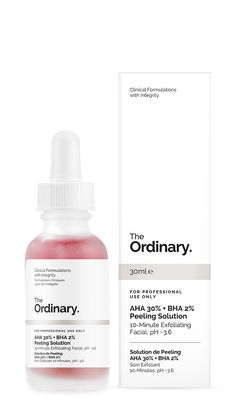 The Ordinary AHA + BHA Peeling Solution (Exfoliating Facial) – New Lond. - Care - Skin care , beauty ideas and skin care tips The Ordinary Aha 30, The Ordinary Serum, The Ordinary Chemical Peel, The Ordinary Dupes, Clear Pores, Clear Skin, Alpha Hydroxy Acid, How To Exfoliate Skin, Skin Care