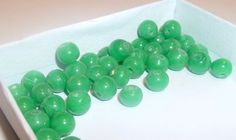 Green 6mm Glass Rounds 40 by waterflowingwest on Etsy, $4.25