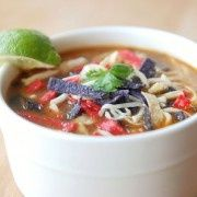 Chicken Tortilla Soup from The Novice Chef