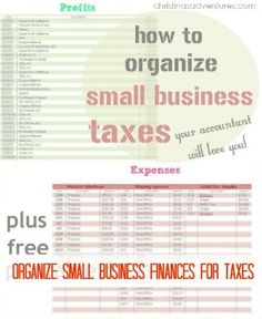 How To Organizae Small Business Taxes |  Christina's Adventures