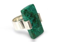Chrysocolla cocktail ring, 'Hug' - Cocktail Ring Sodalite and Sterling Silver Jewelry Holiday Jewelry, Jewelry Gifts, Jewellery, Sterling Silver Jewelry, Silver Rings, Green Rings, Gifts For Your Mom, Mother Day Gifts, Cocktail Rings