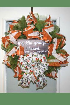 Showcasing some wreaths, swags, door hangers, and centerpieces created by talented designers on the Trendy Tree Custom Wreath Designer List. Thanksgiving Wreaths, Thanksgiving Decorations, Halloween Decorations, Holiday Decorations, Seasonal Decor, Holiday Crafts, Deco Mesh Wreaths, Fall Wreaths, Christmas Wreaths