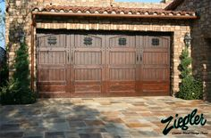 wood and stone garages | ... com garagedoors wood tuscan html # sigprogalleriab429a13cb6