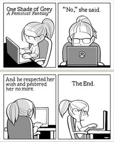 Humor Train - Funny Pictures, Pic Dumps, Animals and GIFs.: One shade of grey - a feminist fantasy Web Foto, Body Positivity, Jm Barrie, Lol, Fifty Shades Of Grey, Book Worms, Just In Case, I Laughed, The Book