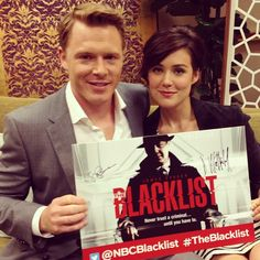Diego Klattenhoff and Megan Boone from The Blacklist.