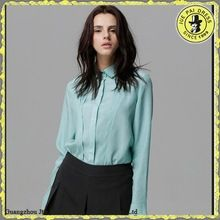 Mint Green Female Office Shirt Made In Guangzhou Best Seller follow this link http://shopingayo.space
