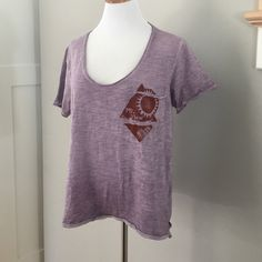 Free People T-Shirt Comfy Cozy Pocket T- Heather Light Purple. Worn/washed once Free People Tops Tees - Short Sleeve